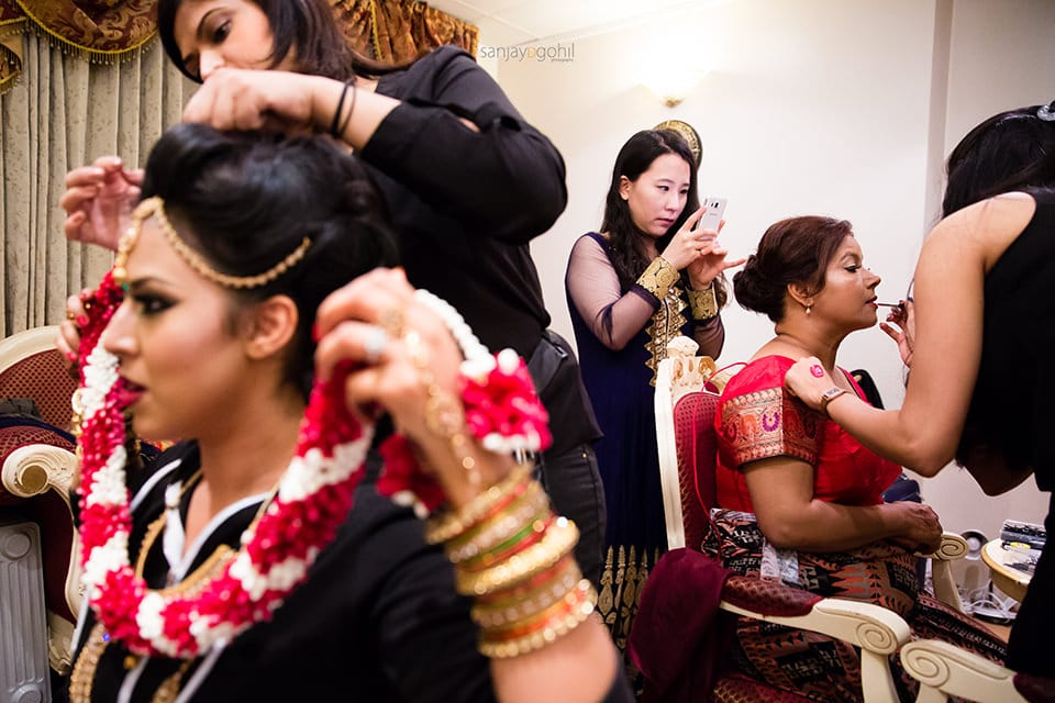 Asian Wedding bride getting ready