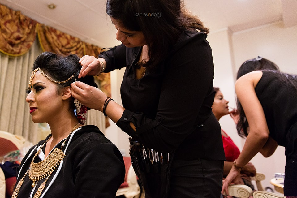 Asian Wedding bride getting ready