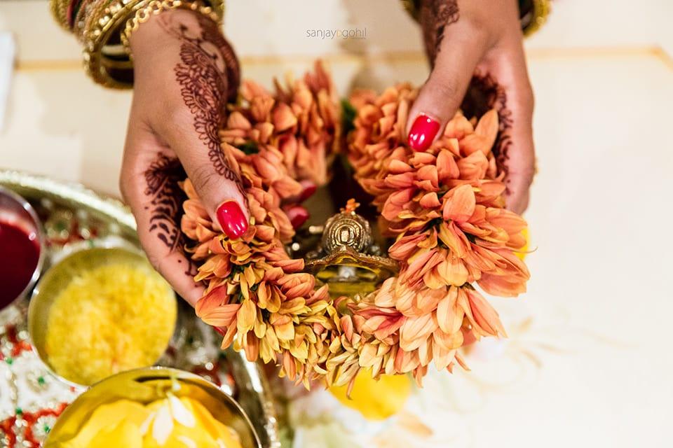 Ganesh Pooja ceremony at Hare Krishna Mandir