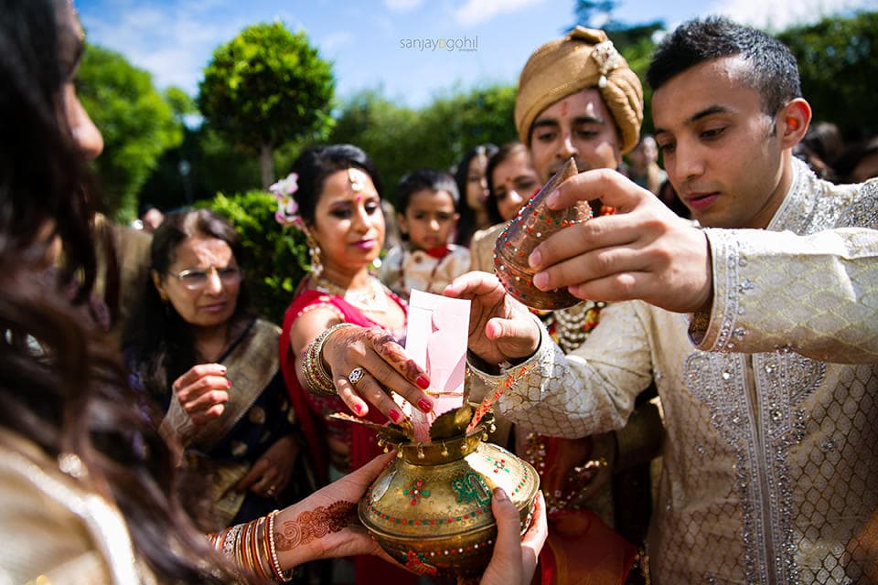 Gujarati welcoming ceremony