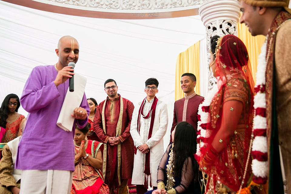 Asian wedding brides' family