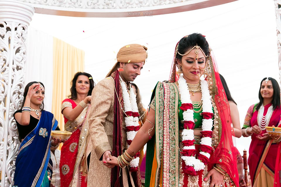 Phera ceremony during Hindu wedding ceremony