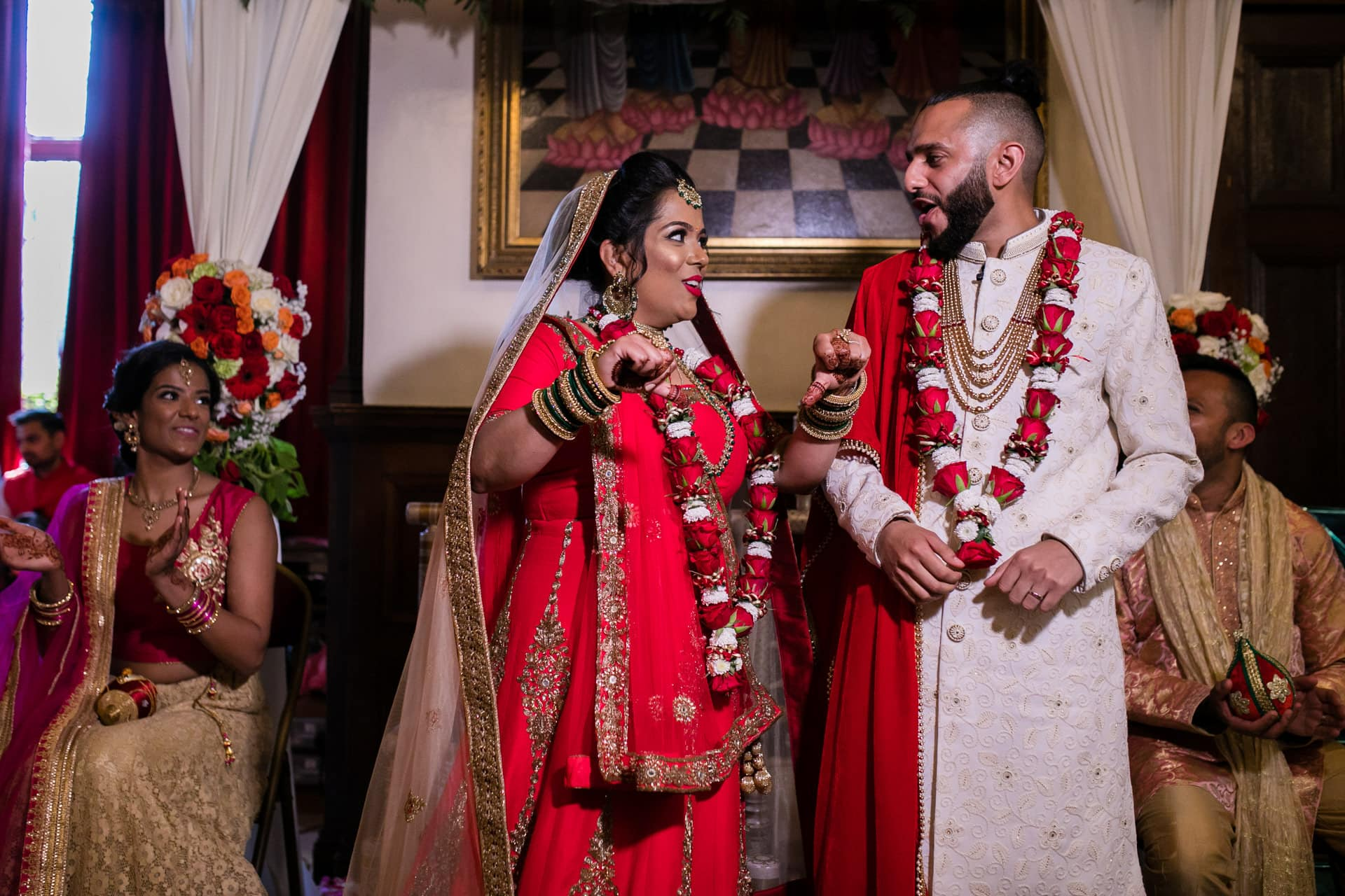 Hindu bride and groom