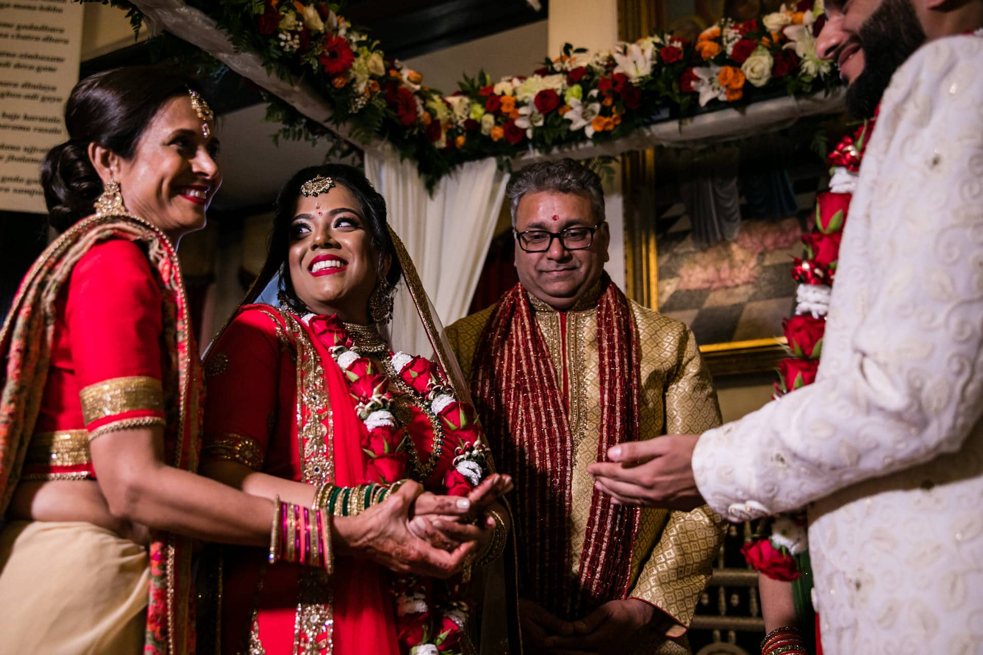 Bride performing Hindu wedding ceremony