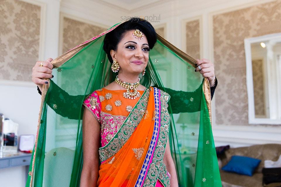 Asian Bride getting ready