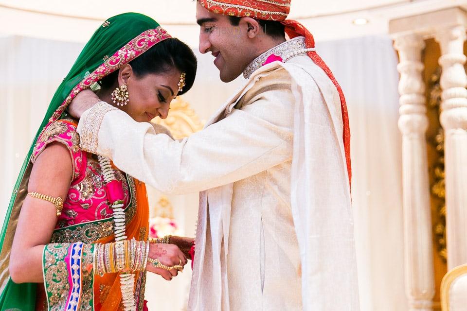 Wedding garlanding ceremony