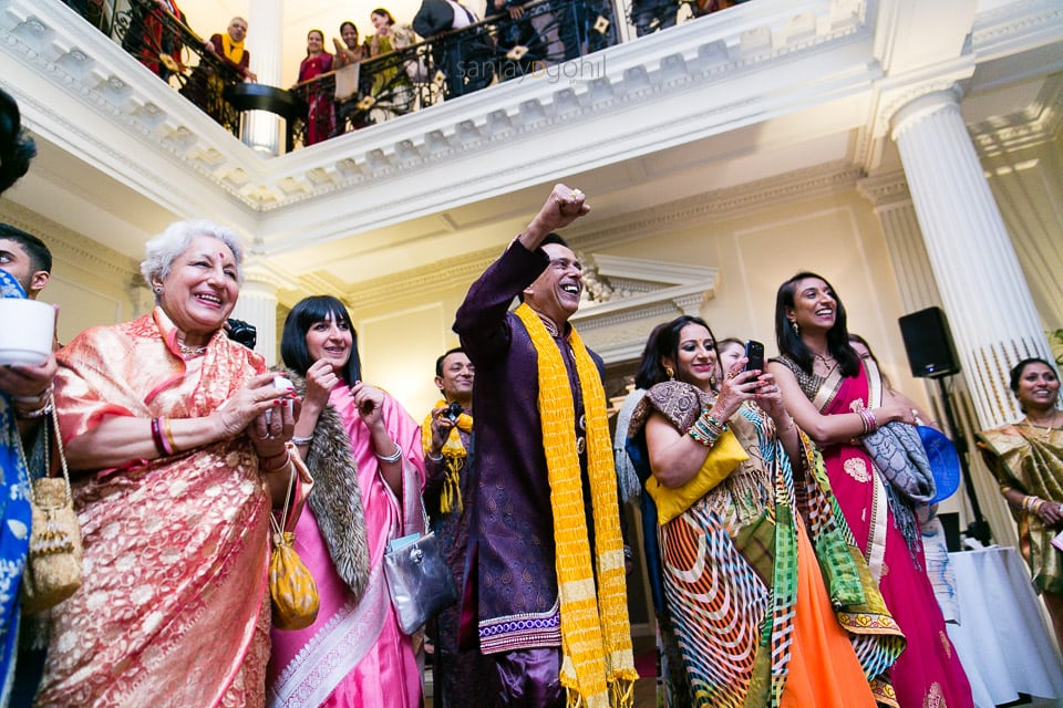 Wedding guest reaction during koda kodi
