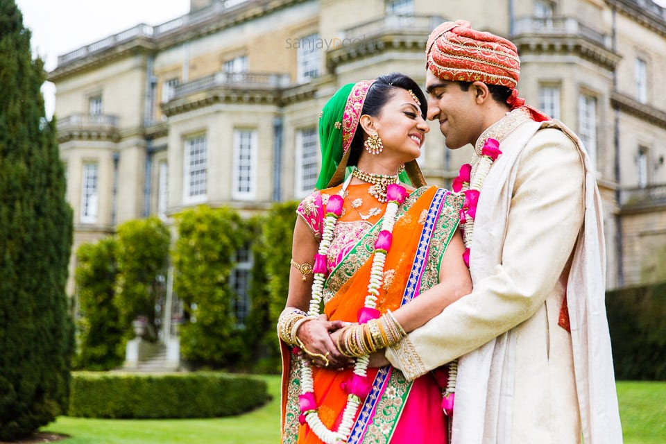 Wedding portrait at Hedsor house, windsor