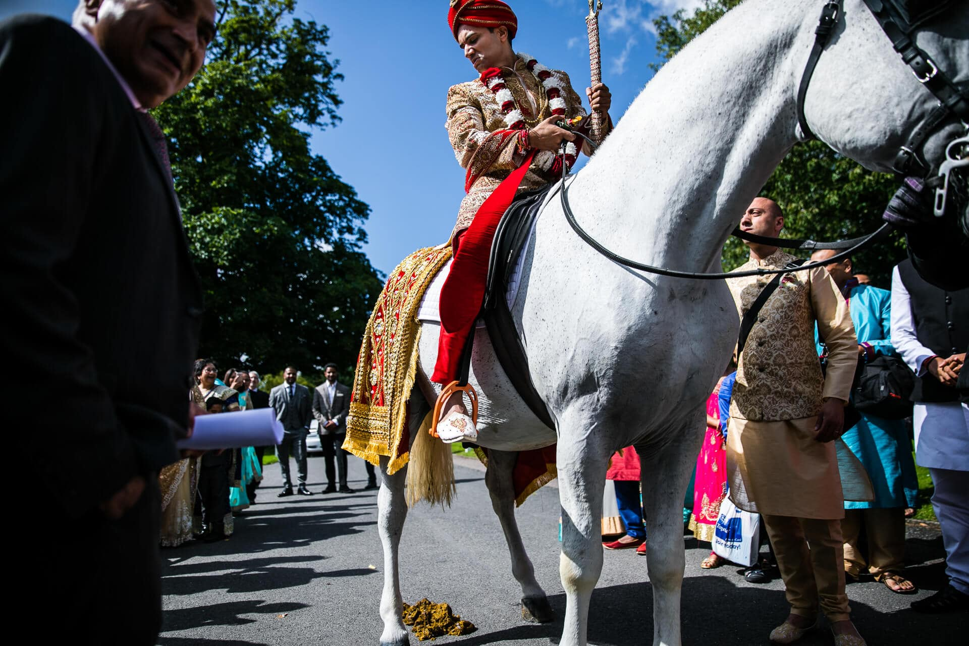 Groom on horse