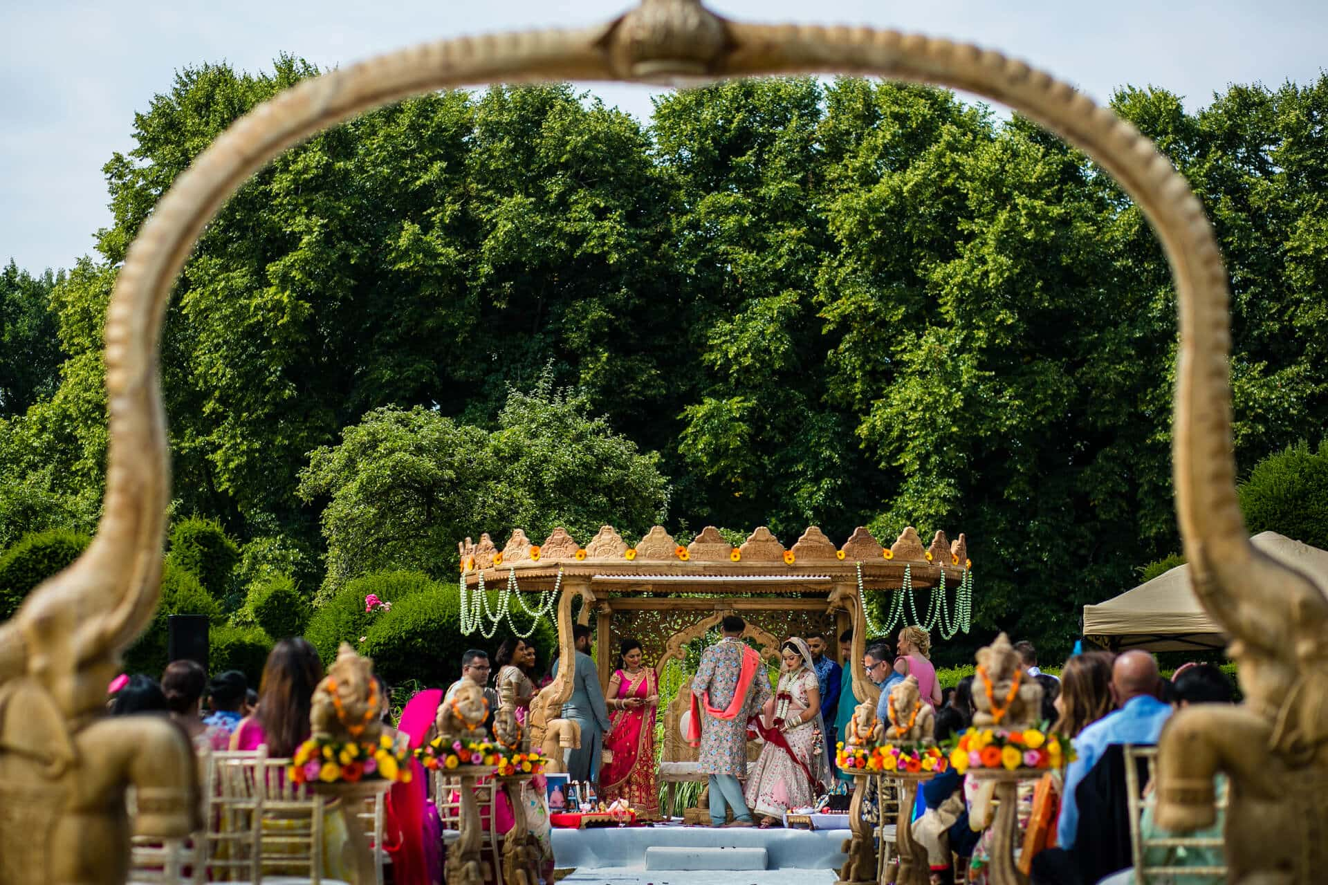 Outdoor Hindu wedding