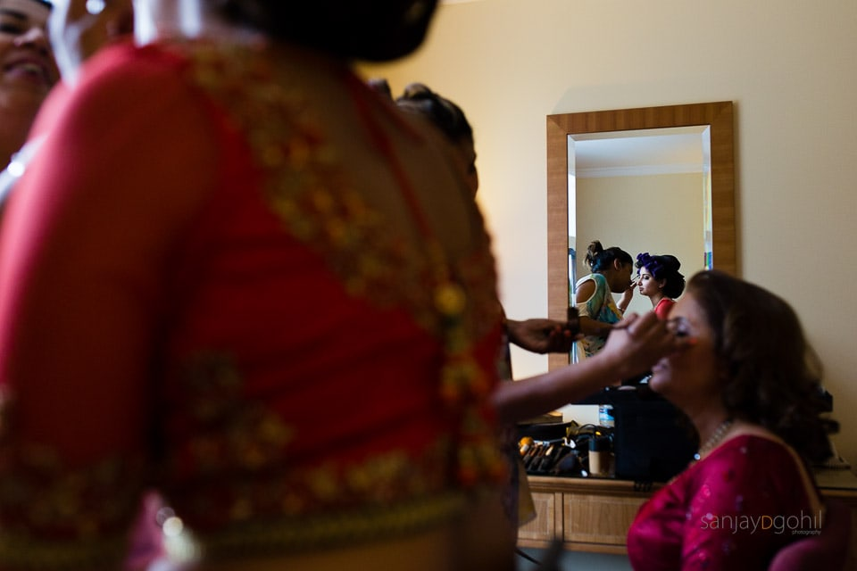 Asian Bride getting ready