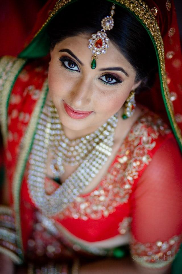Asian Bridal Portrait by Sanjay D Gohil Photography