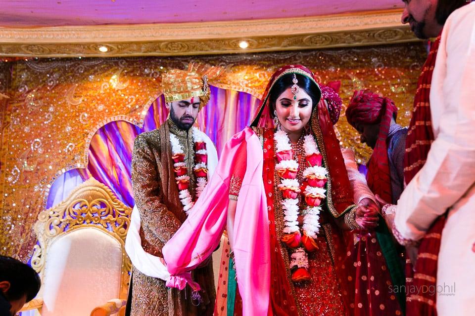 Phera ceremony during Gujarati wedding ceremony