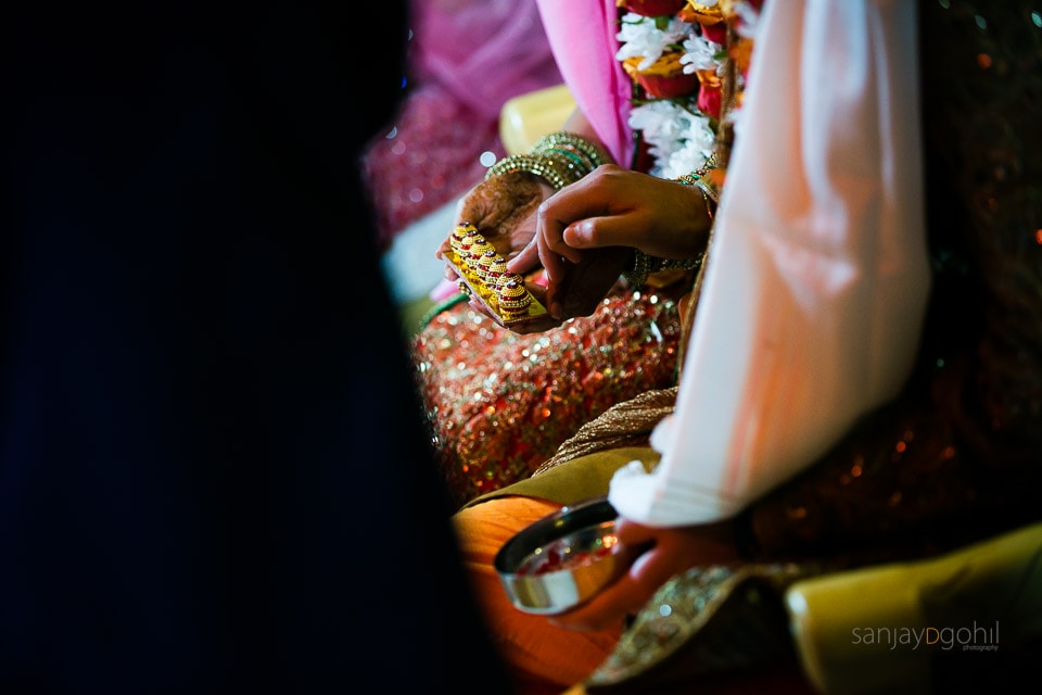 Seven step ceremony during Gujarati wedding