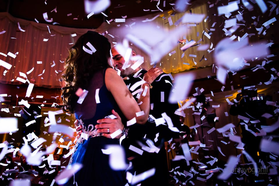 First dance photograph with confetti