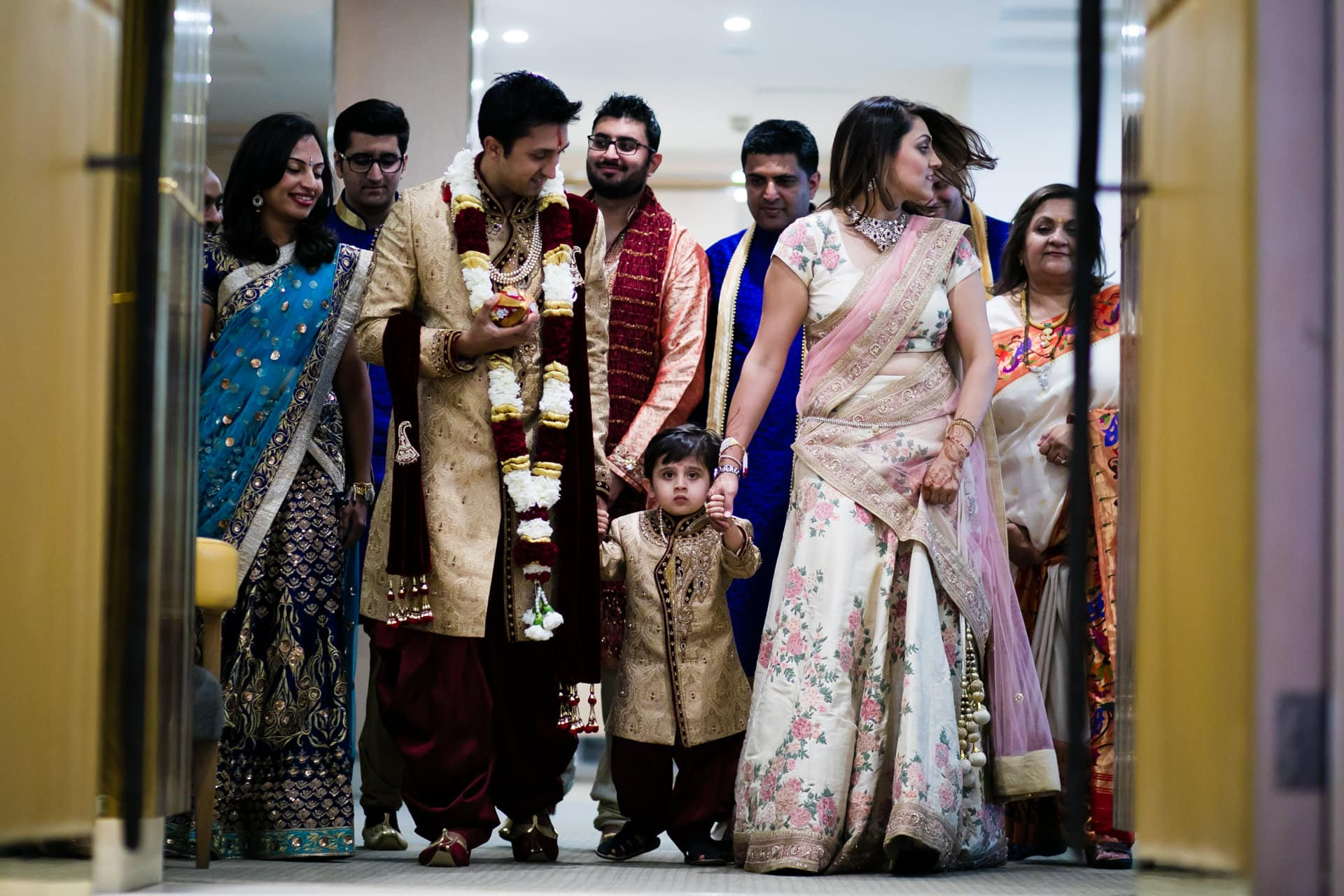 Hindu Wedding Groom waiting with family