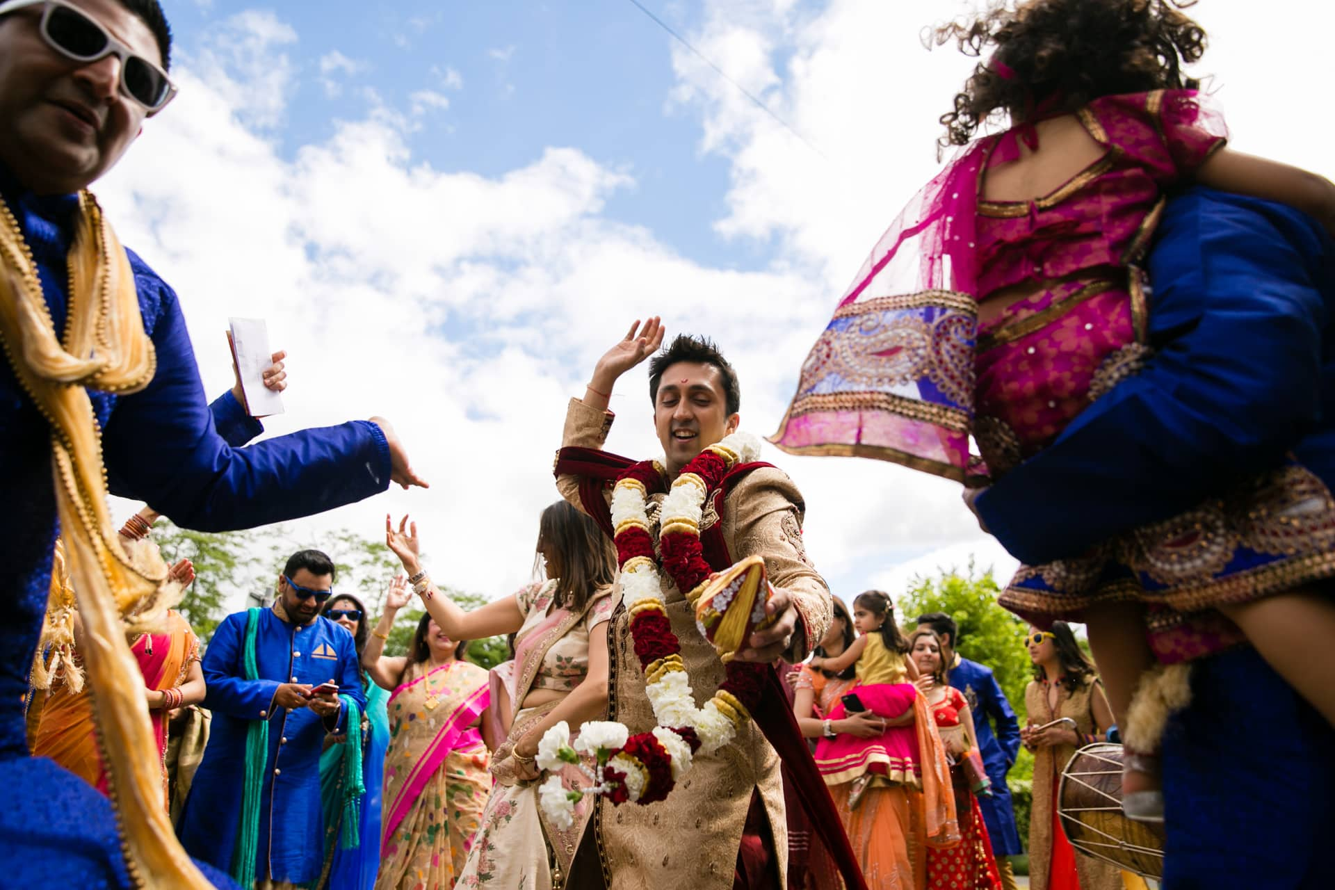 Hindu Wedding Groom dancing