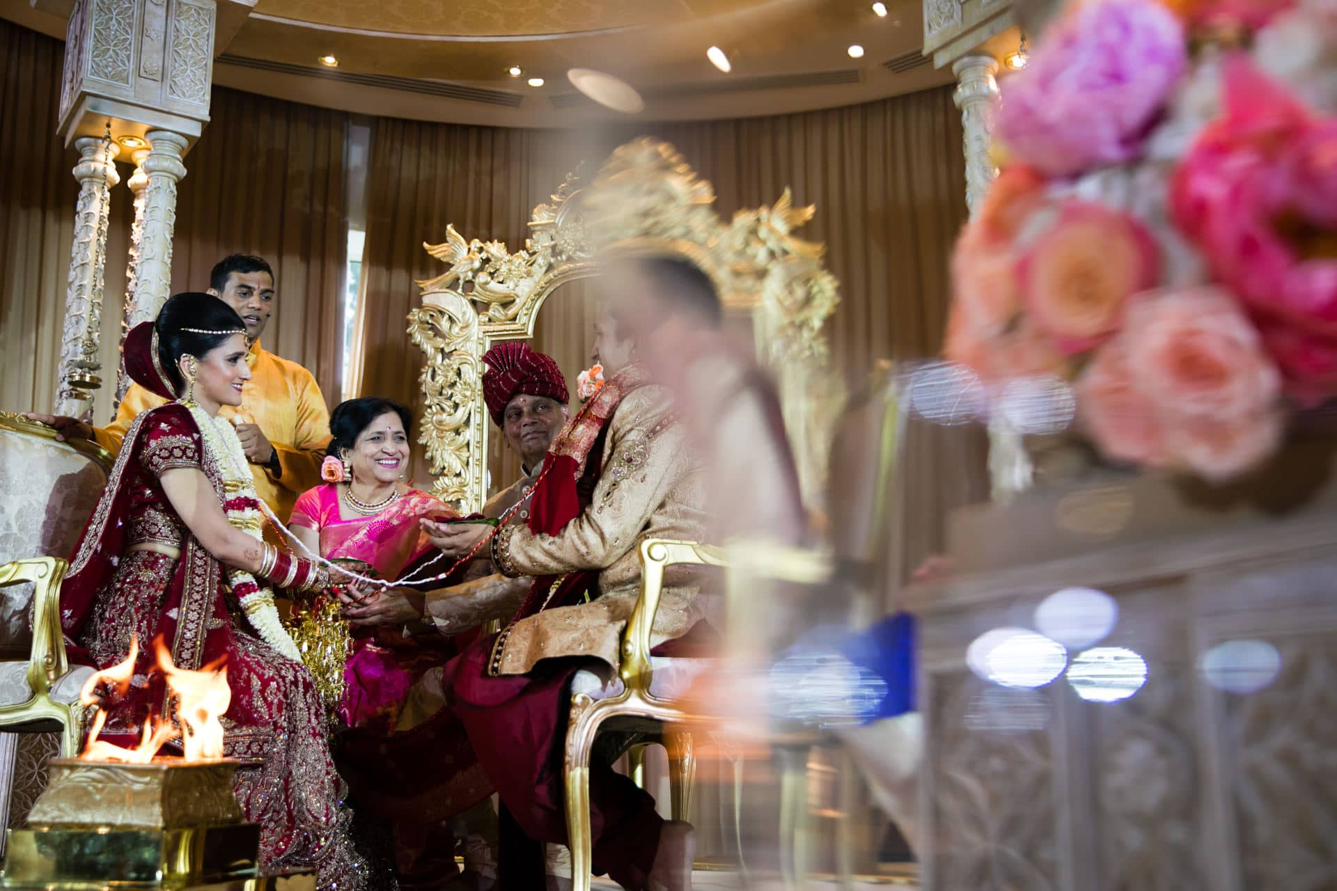 Hindu Wedding ceremony taking place