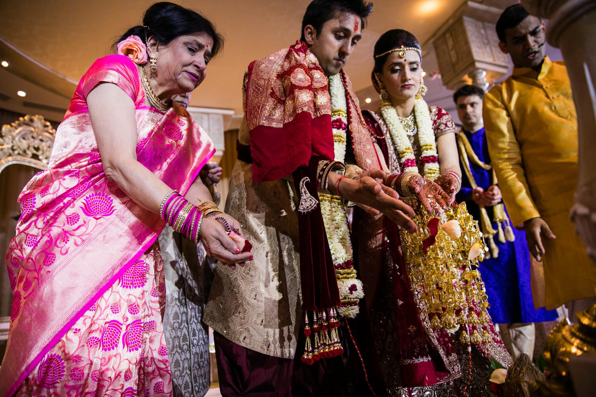 Final blessing ceremony during Hindu Wedding