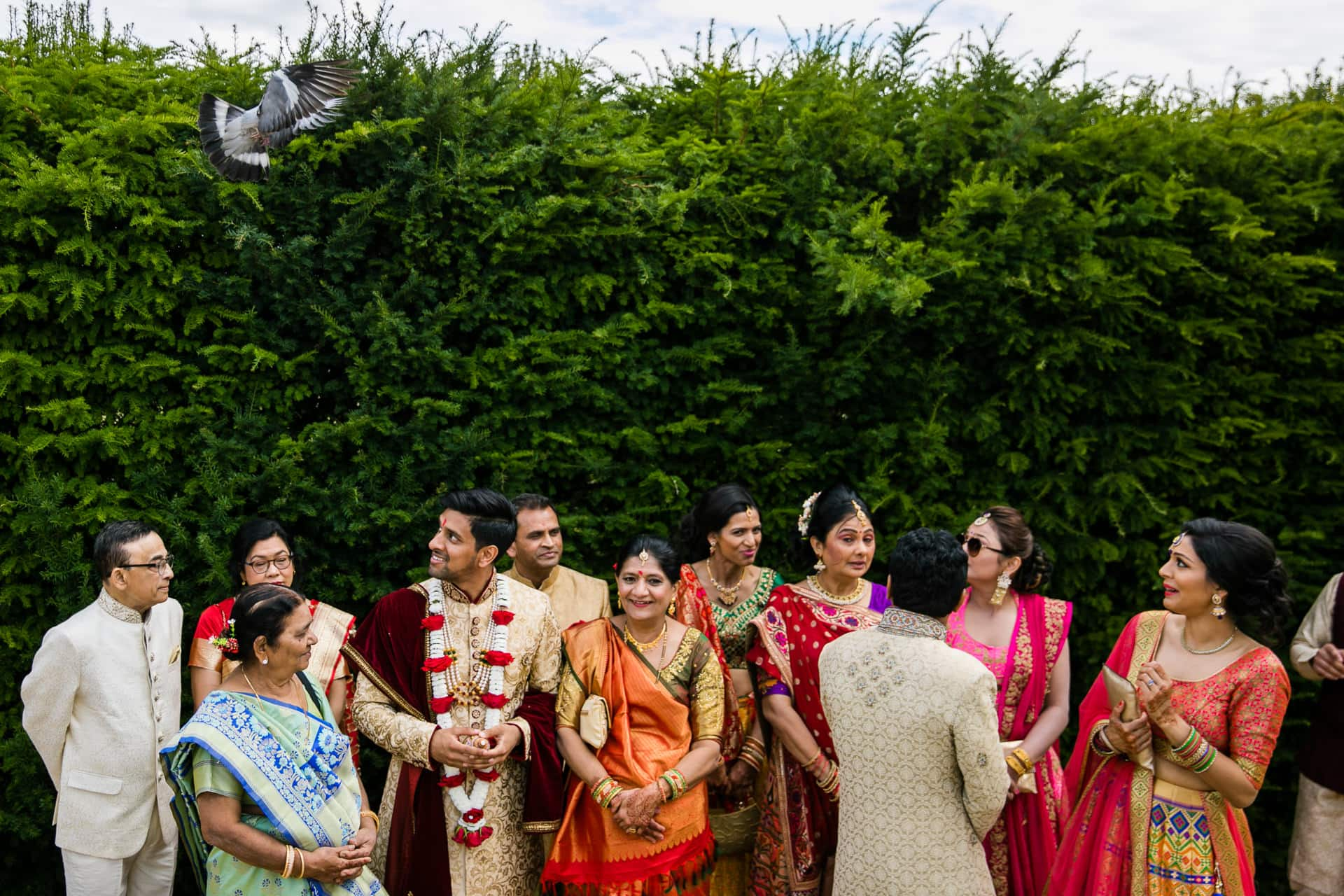 Asian wedding ceremony at Hylands House