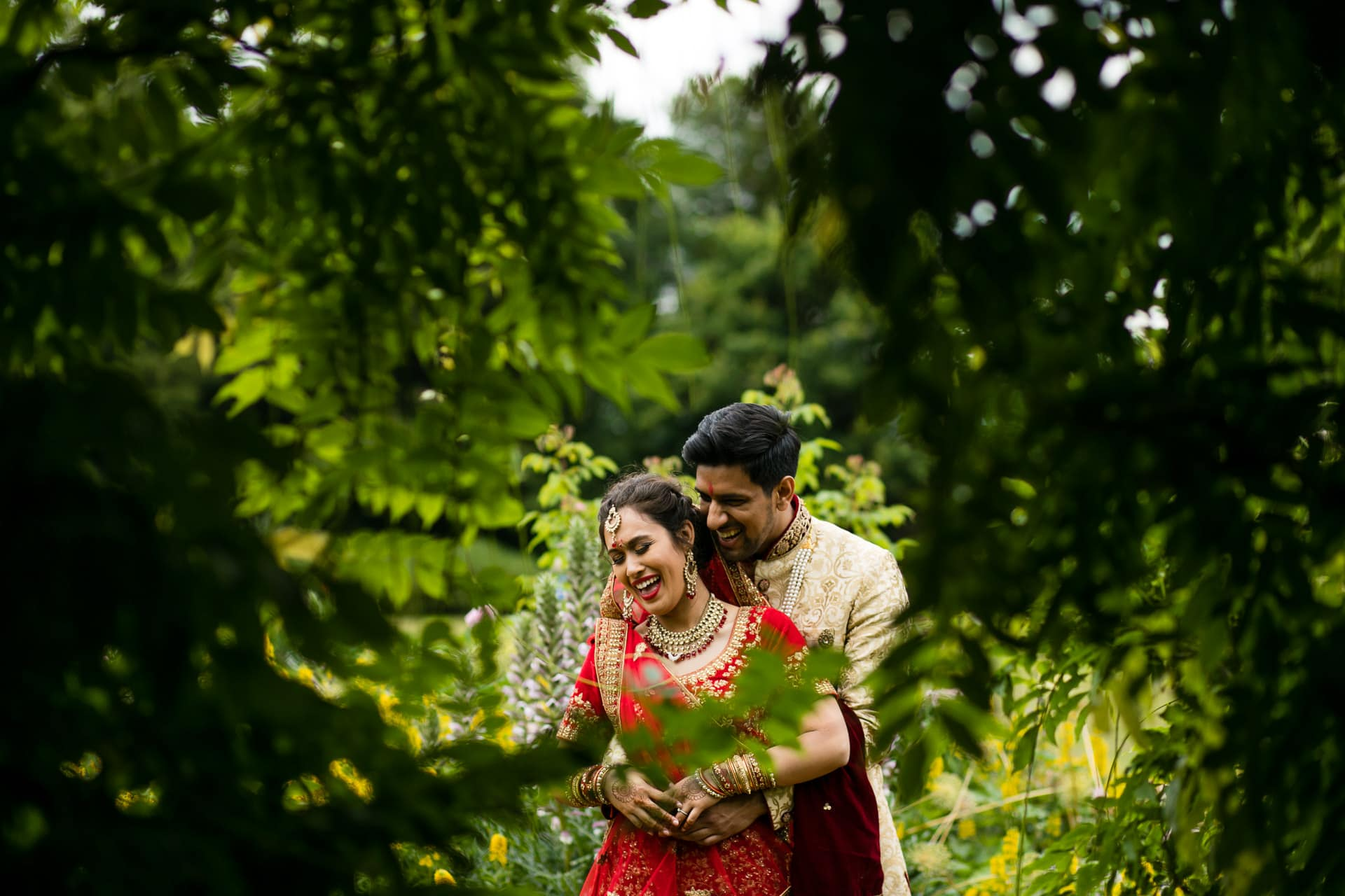 Wedding portraits at Hylands House