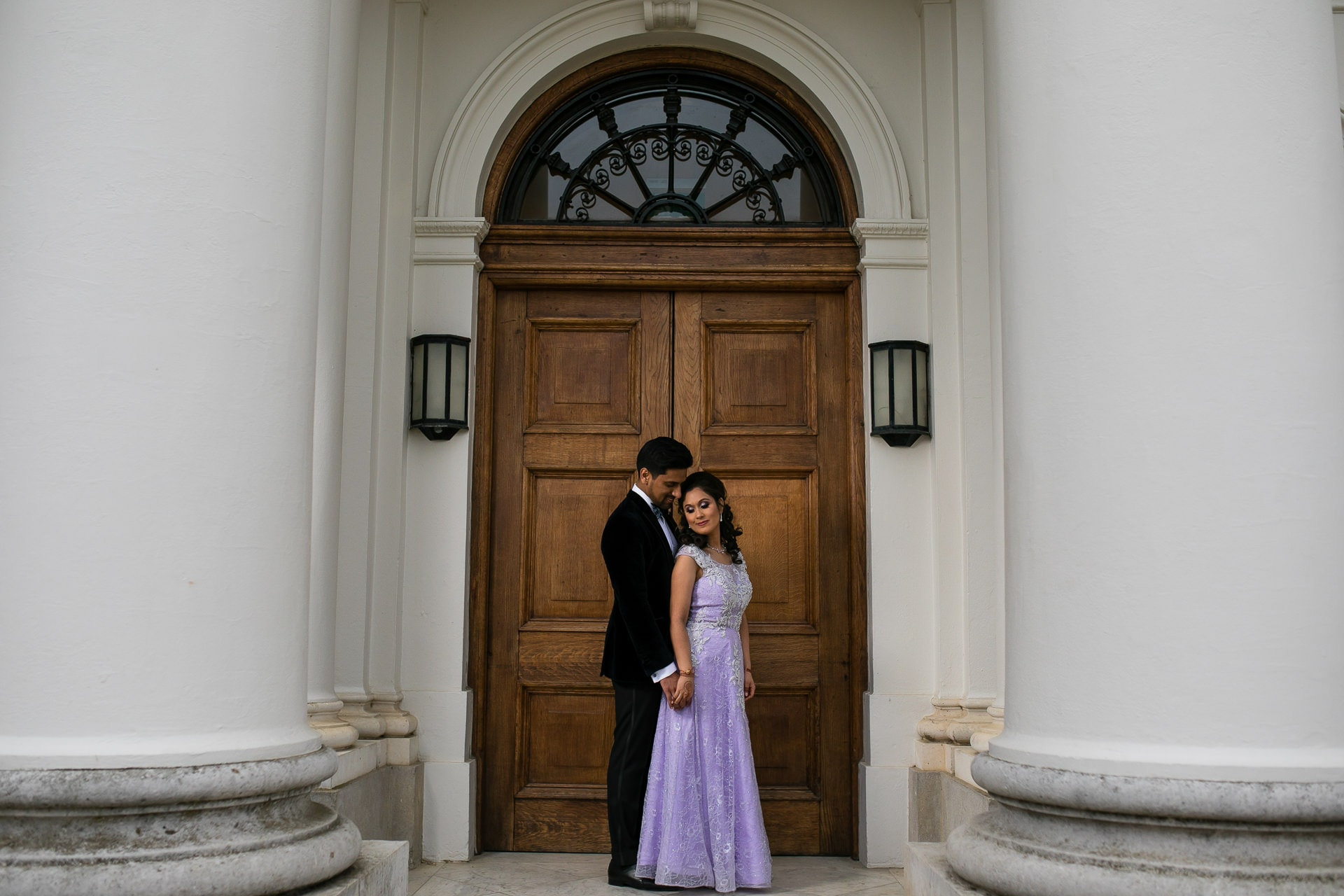 Wedding couple portraits at Hylands House