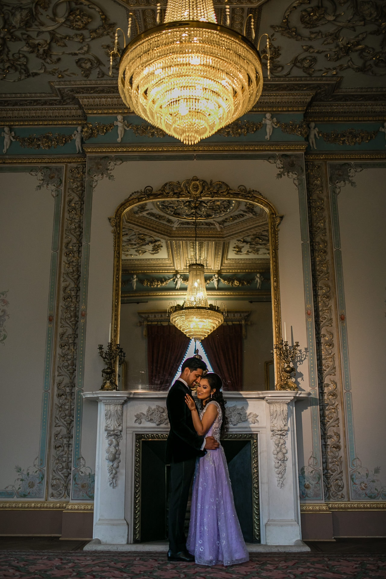 Wedding couple portraits at Hylands Estate