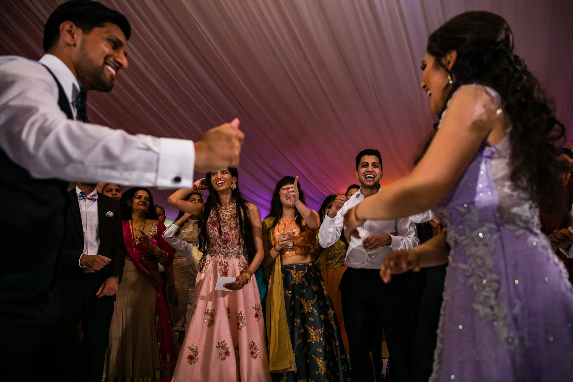 Asian Wedding reception party at Hylands Estate