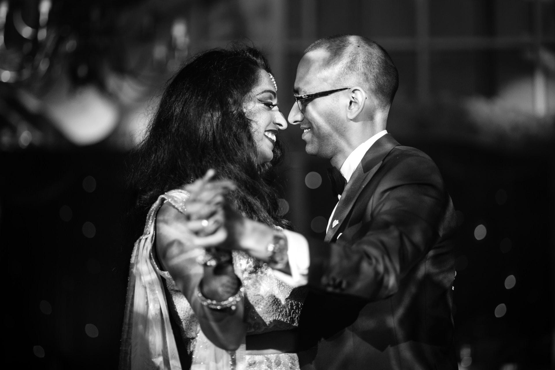 Asian Wedding couples first dance