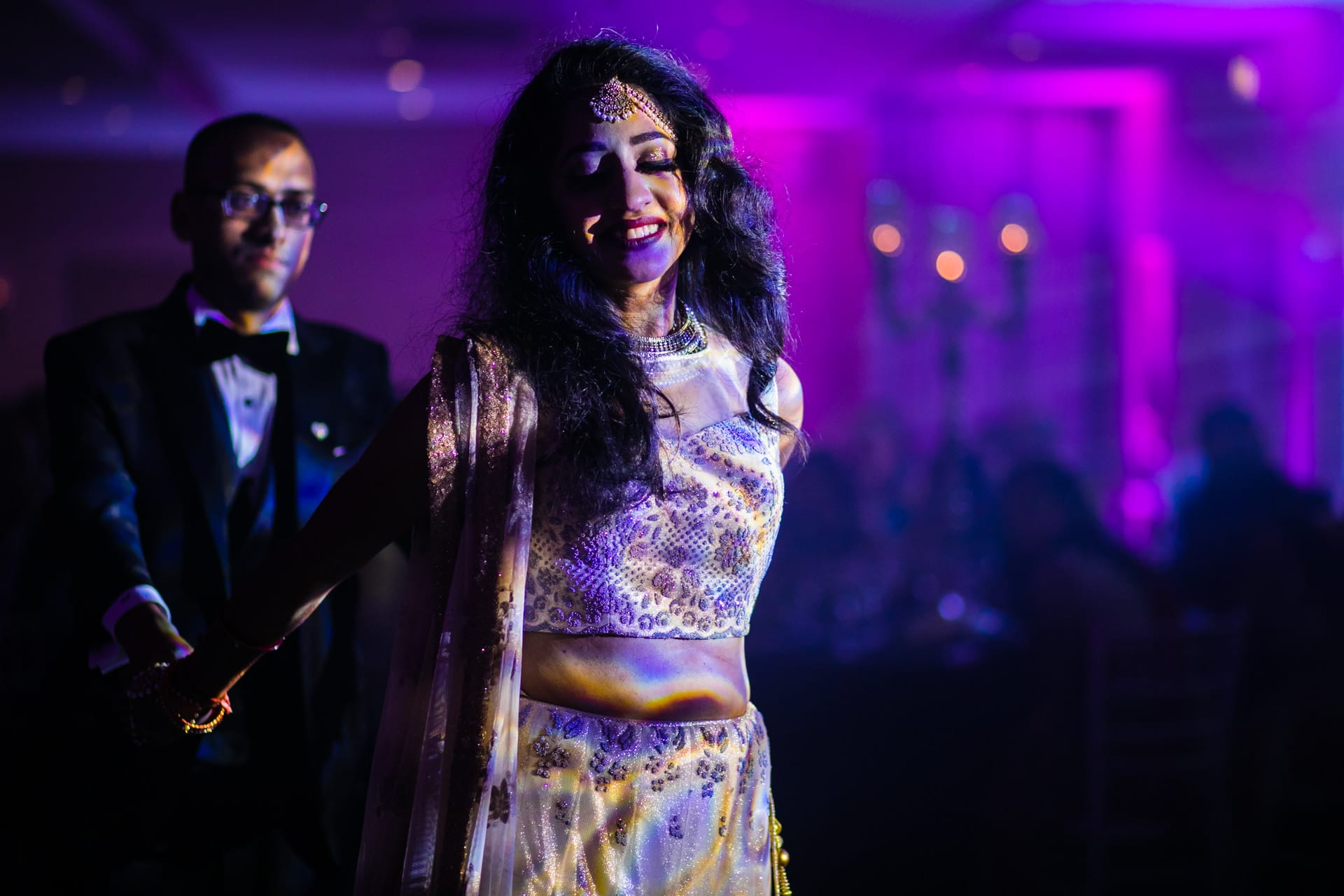 Asian Wedding couples first dance