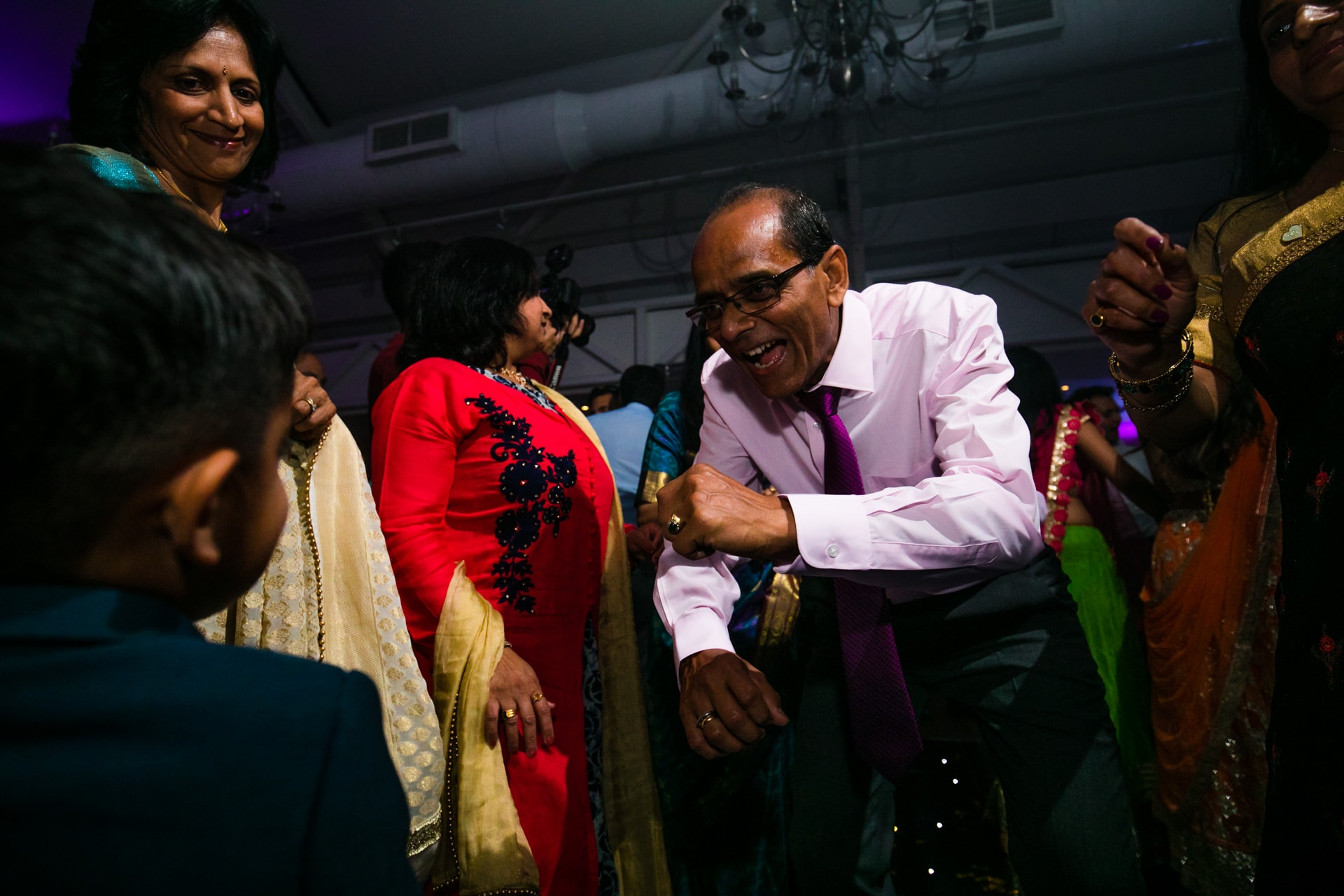 Asian Wedding reception party with DJ Rugrat, Musical Movements hosting