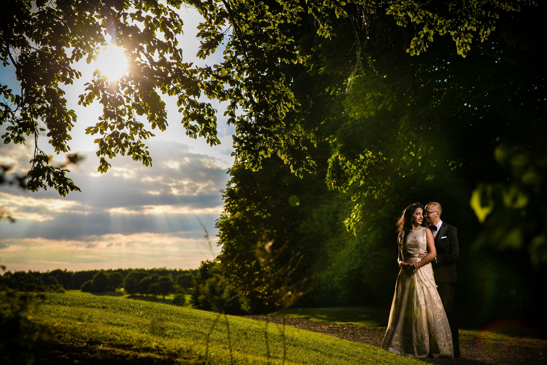 Sunset portraits at Manor of Groves