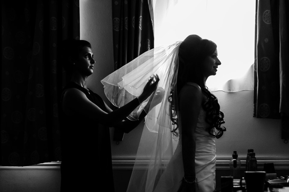 Asian Bride getting ready by jaineesha mua