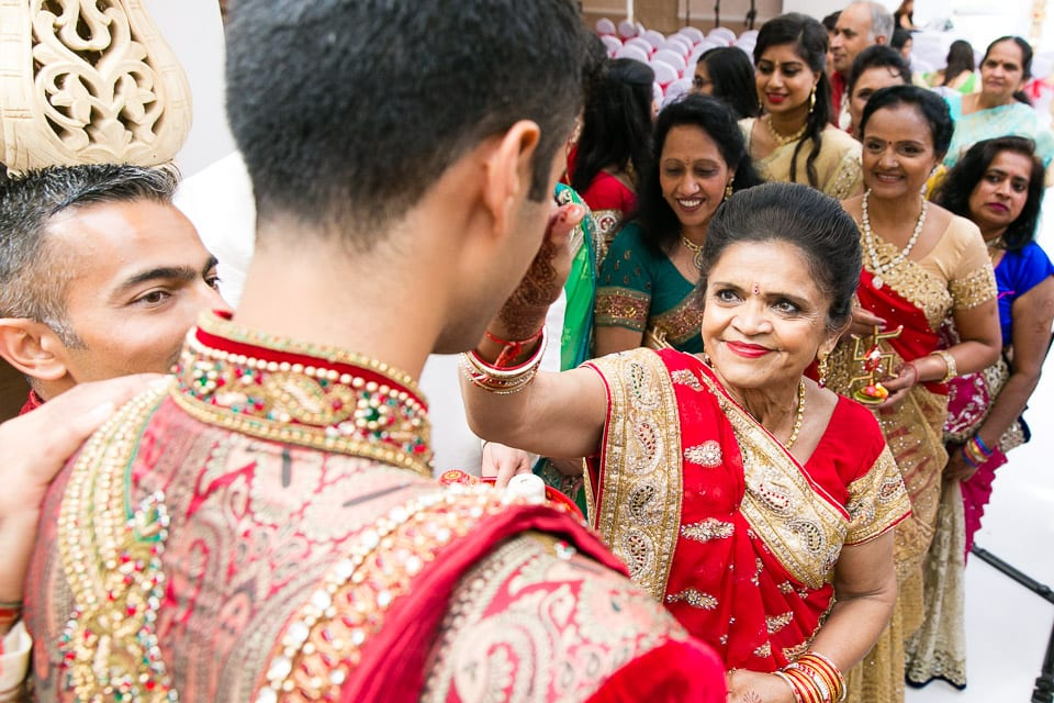 Mother of bride during welcoming ceremony