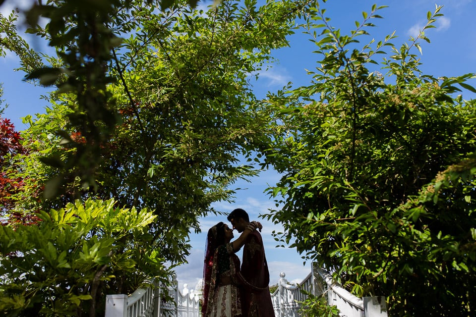 Asian Wedding portrait at Manor of Groves