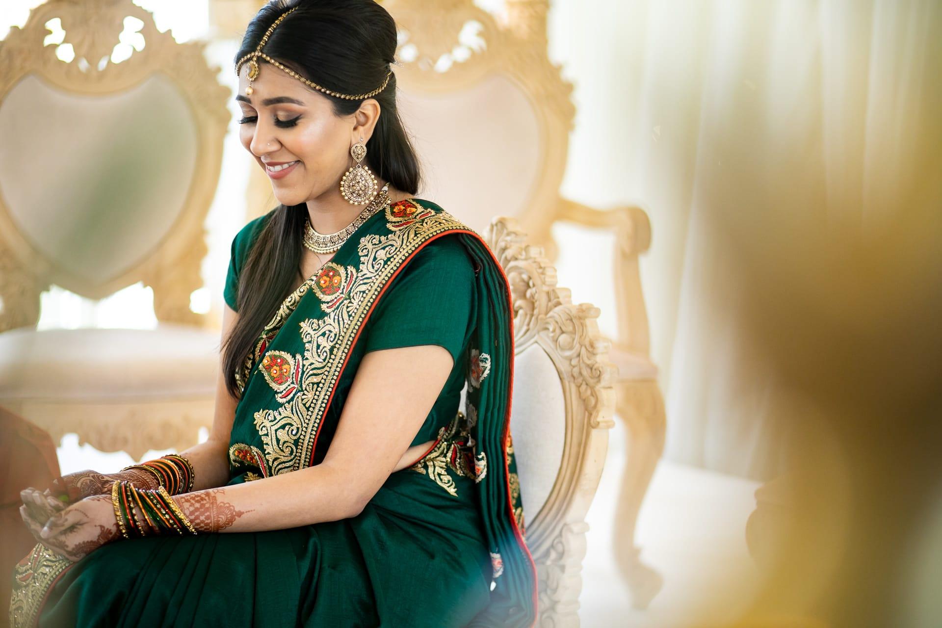 Indian Bride smiling