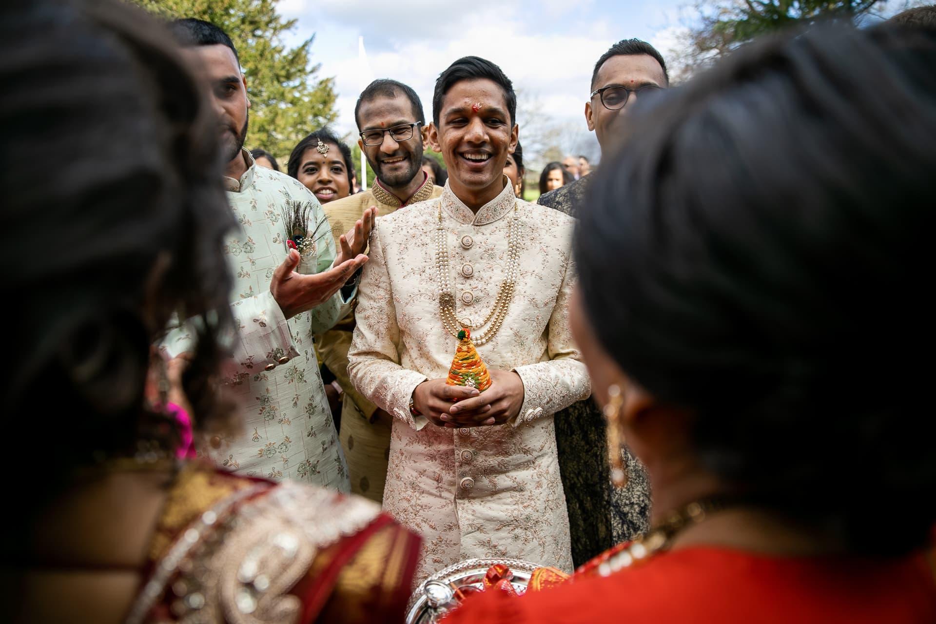 Groom welcoming ceremony