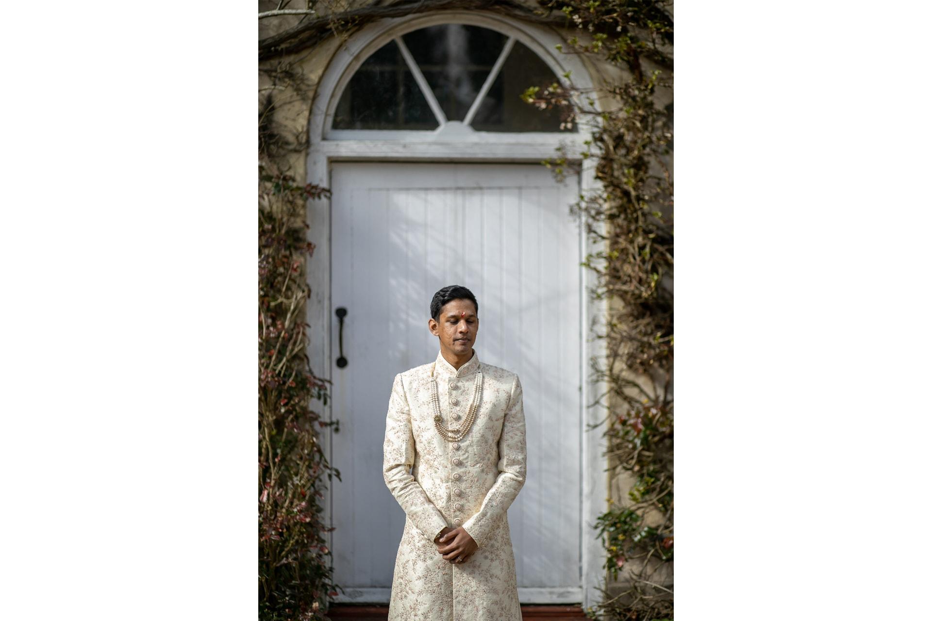 Asian groom portrait