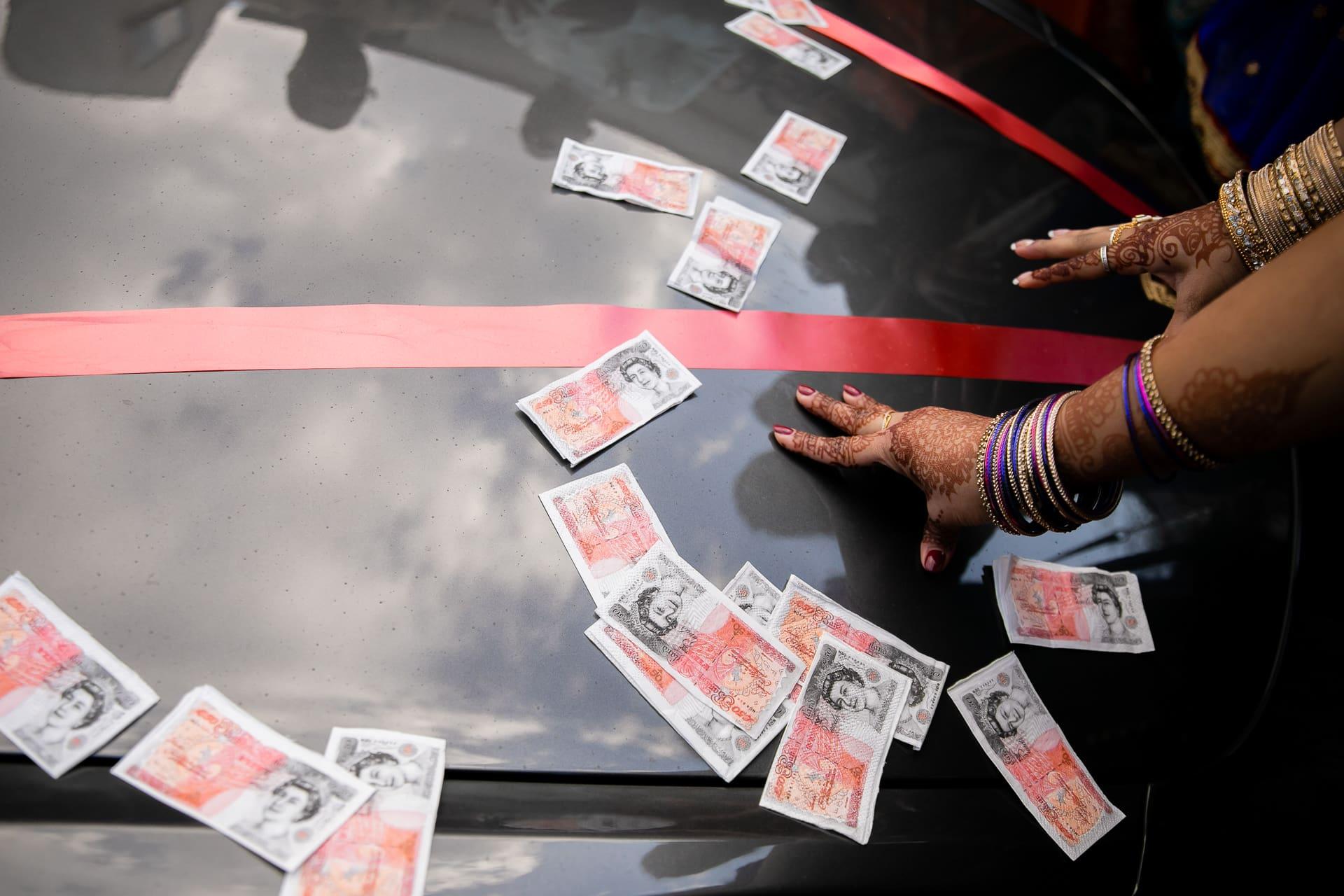 Money on the car