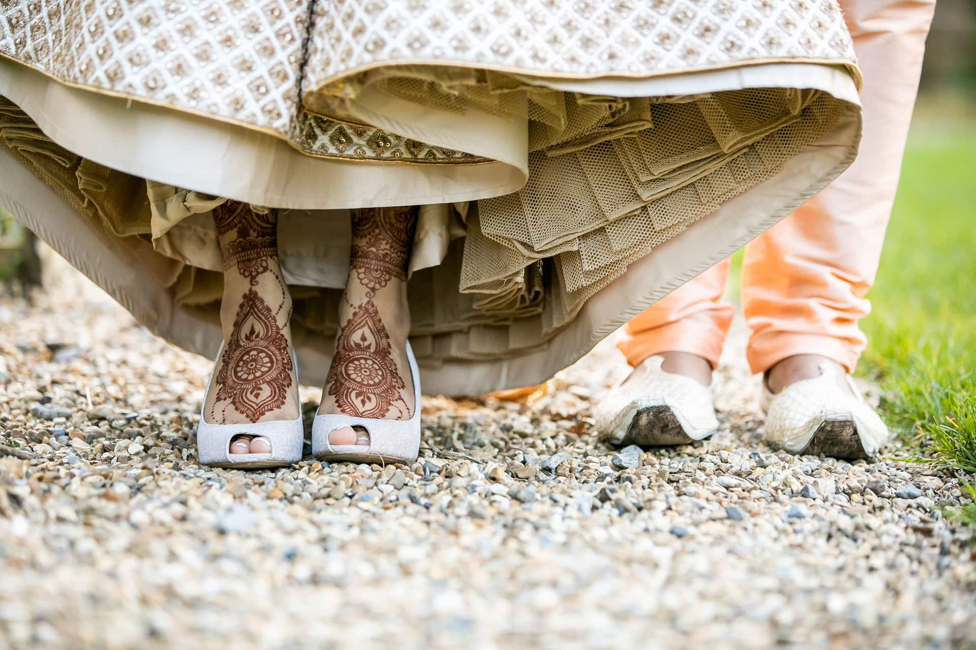Hindu wedding bride and groom shoes