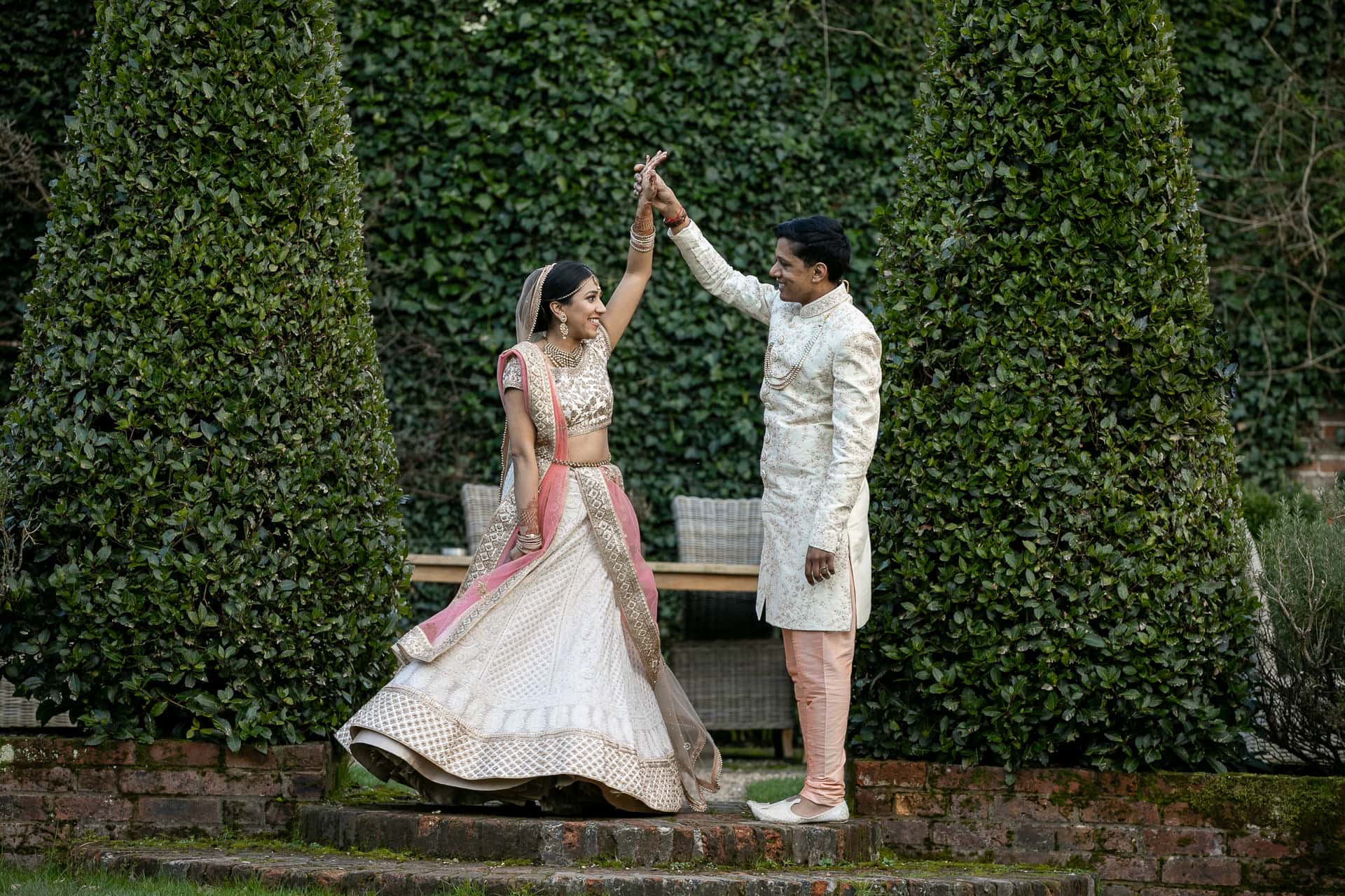 Hindu wedding portrait at Northbrook Park