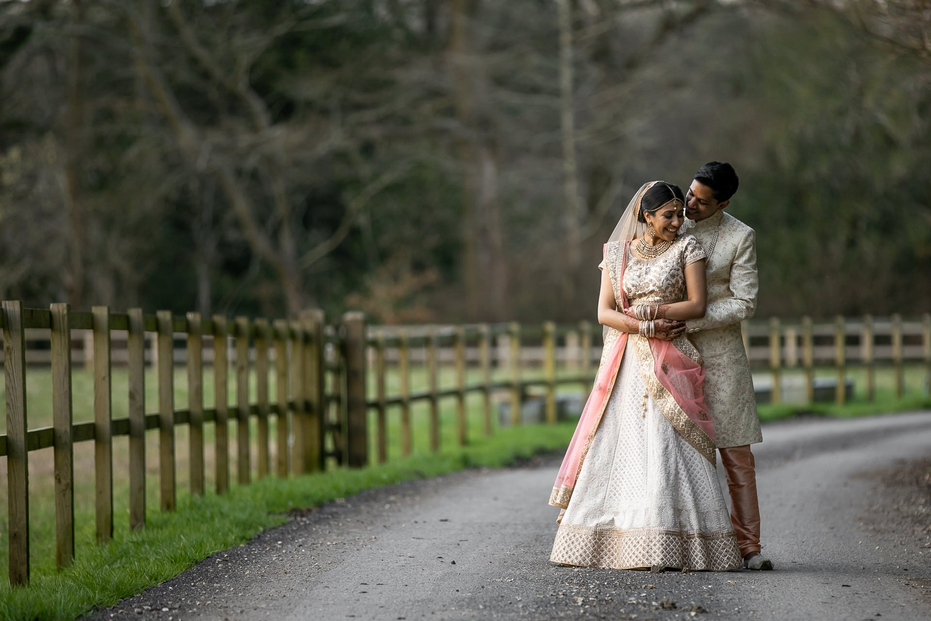 Hindu wedding portrait at Northbrook Park