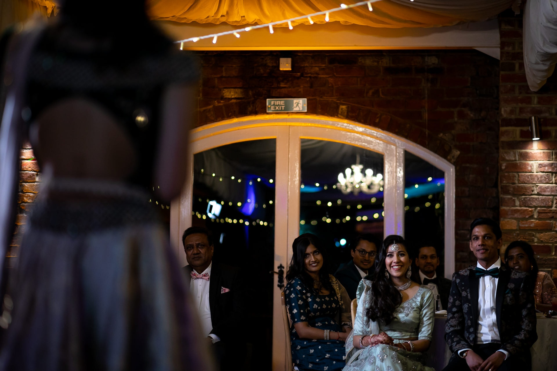 Asian wedding reception party at Northbrook Park