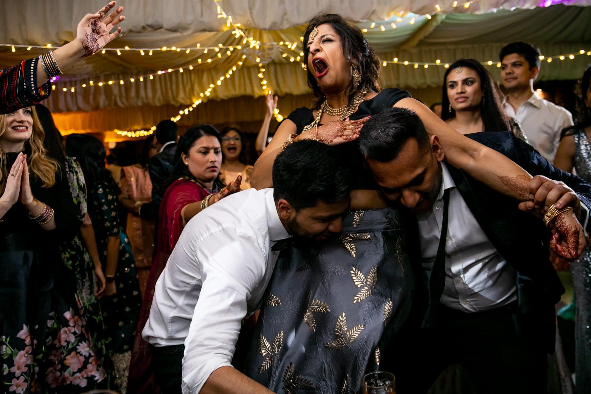 Hindu wedding reception party at Northbook Park