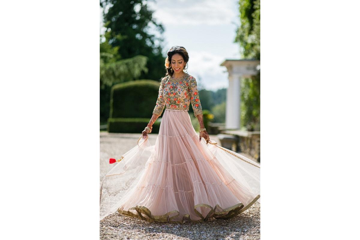 Asian Wedding bride spinning around