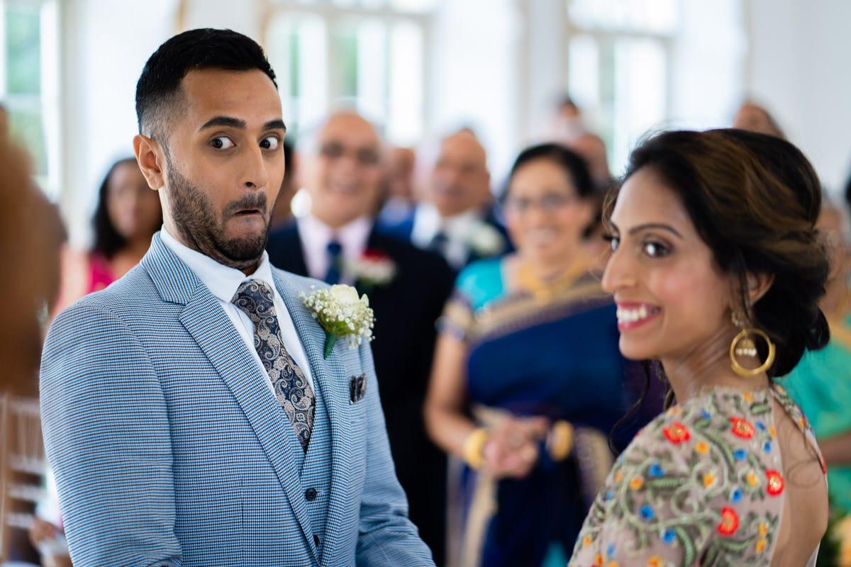 Civil wedding ceremony at Northbrook Park