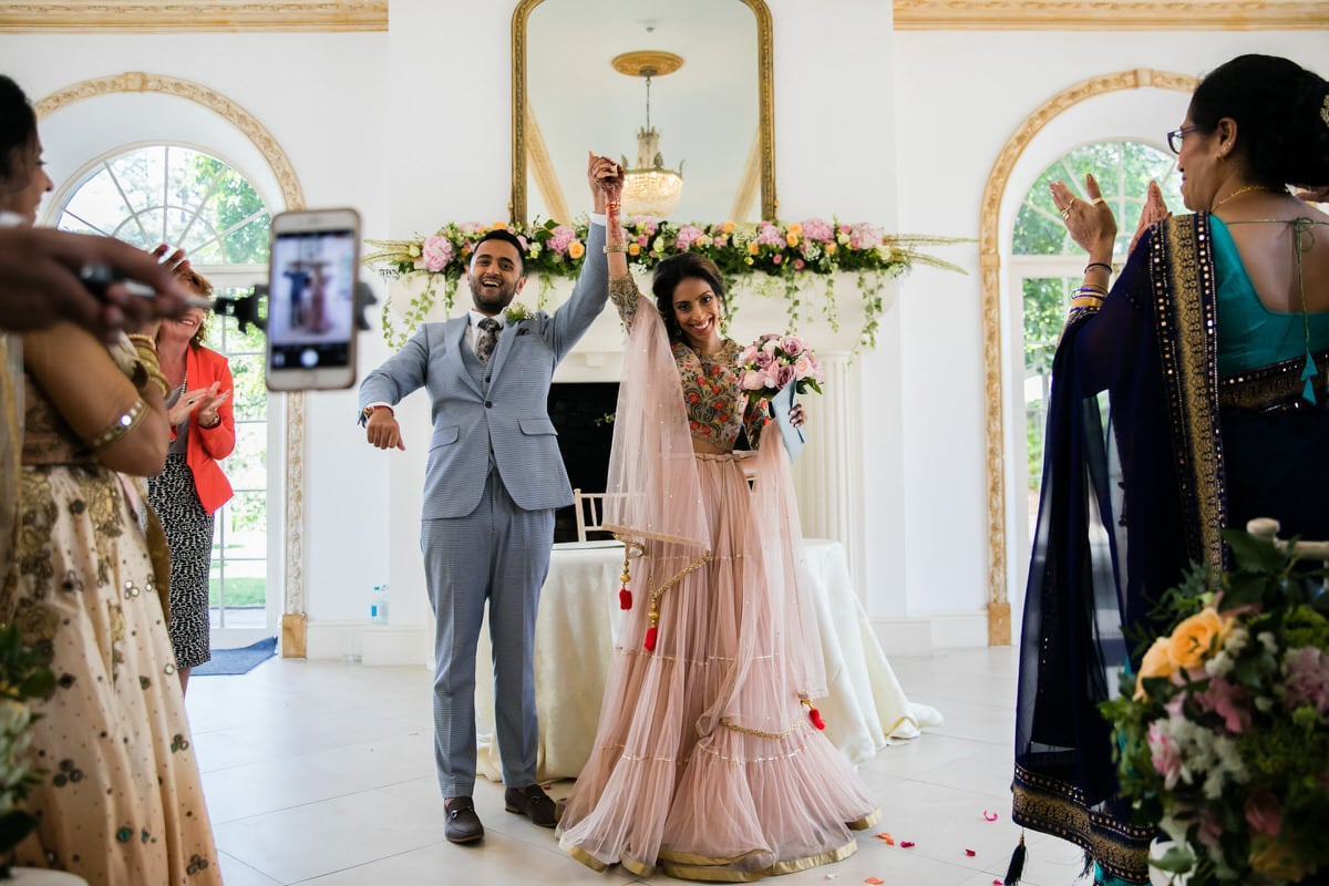 Civil wedding ceremony at Northbrook Park