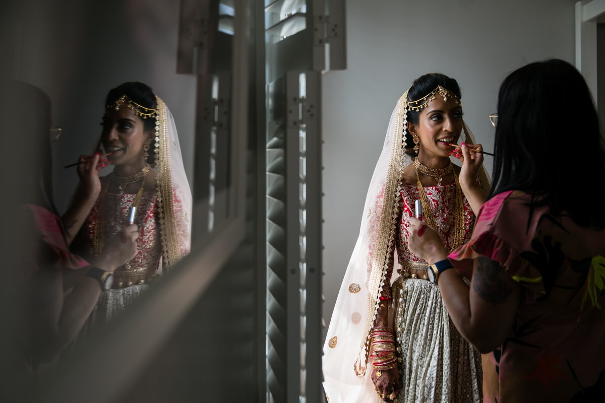 Asian Bride getting ready for her wedding
