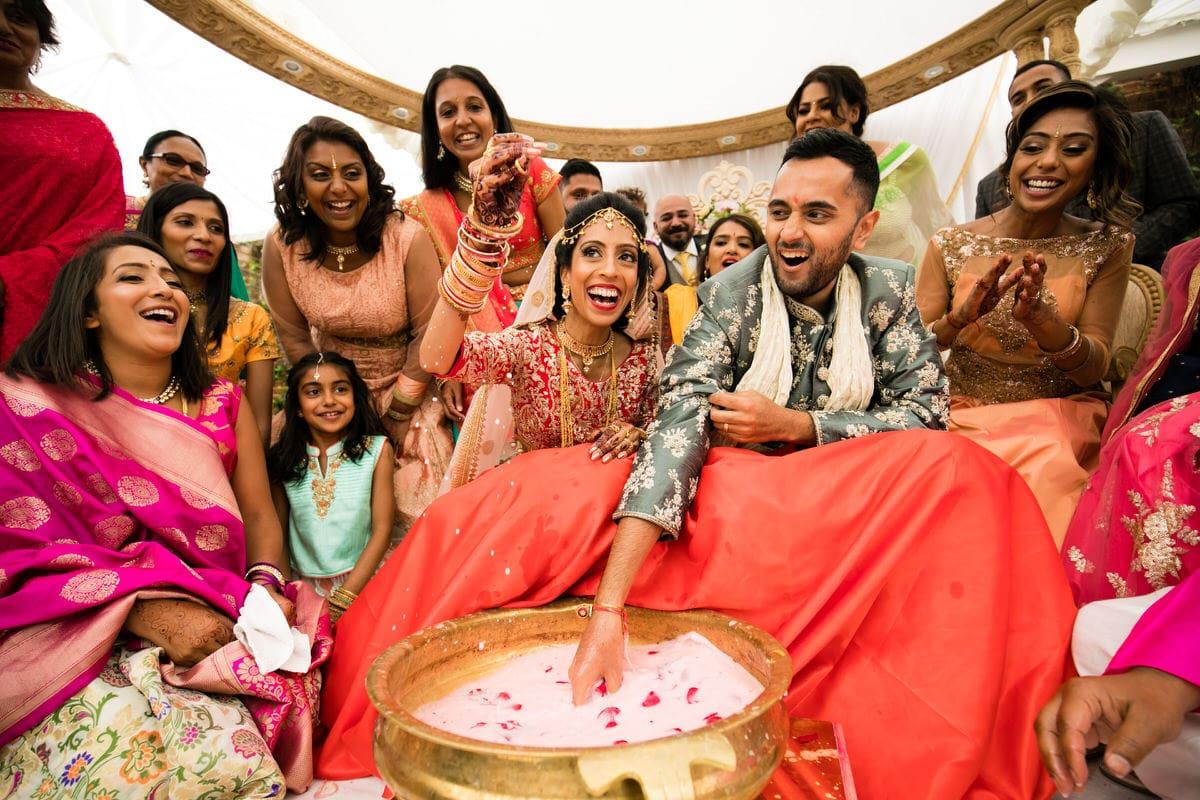 Koda kodi game after Hindu wedding ceremony
