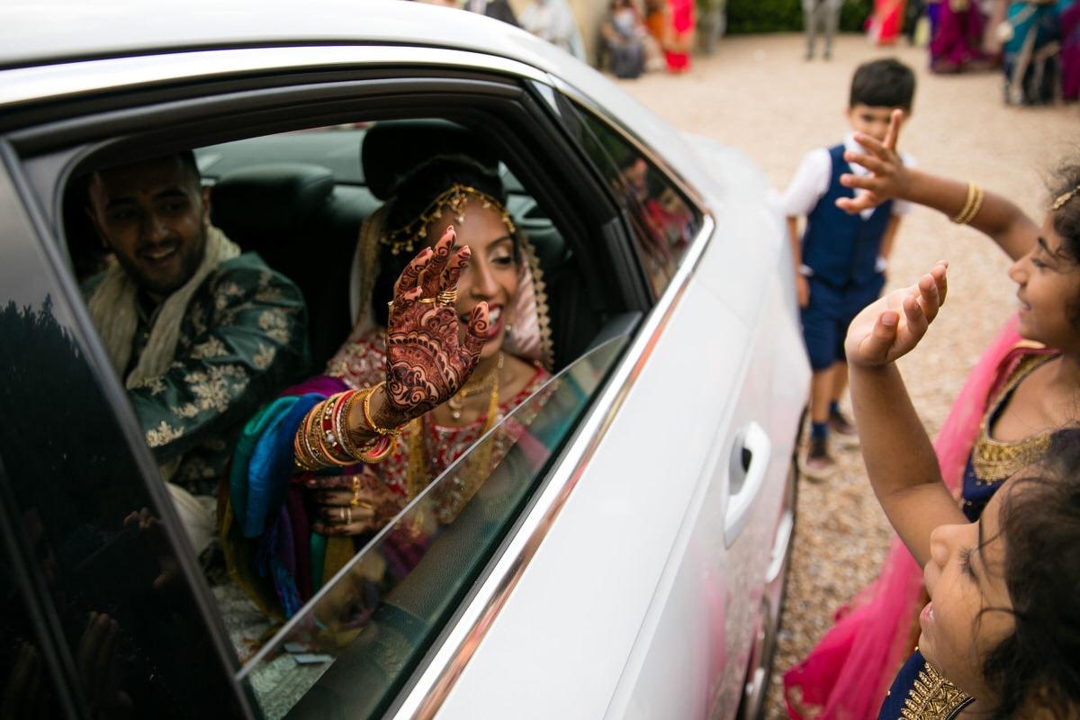 Bride waxing goodbye